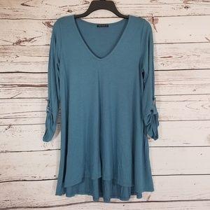 Nally & Millie Women's V-Neck Dress Size L